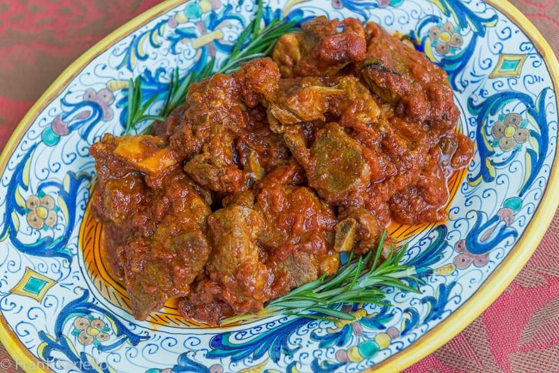 Agnello in umido (Lamb Braised in Tomato Sauce)
