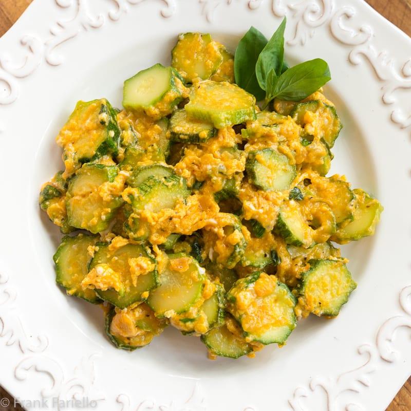 Zucchine Cacio e Uova (Zucchini with Egg and Cheese)