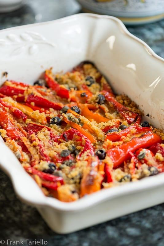 Peperoni al gratin (Peppers au gratin)
