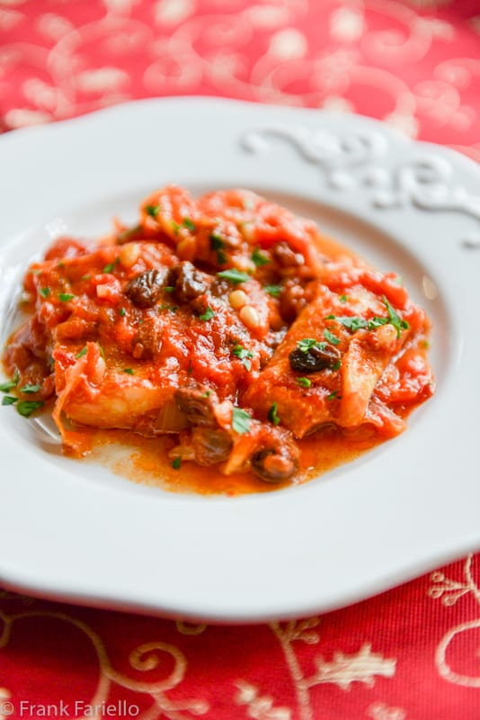 Baccal in guazzetto roman style salt cod in tomato sauce for Salted cod fish near me