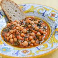 Cacciucco di ceci (Tuscan Chickpea and Swiss Chard Soup)