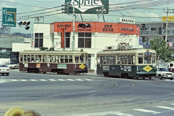 広島電鉄553号と769号