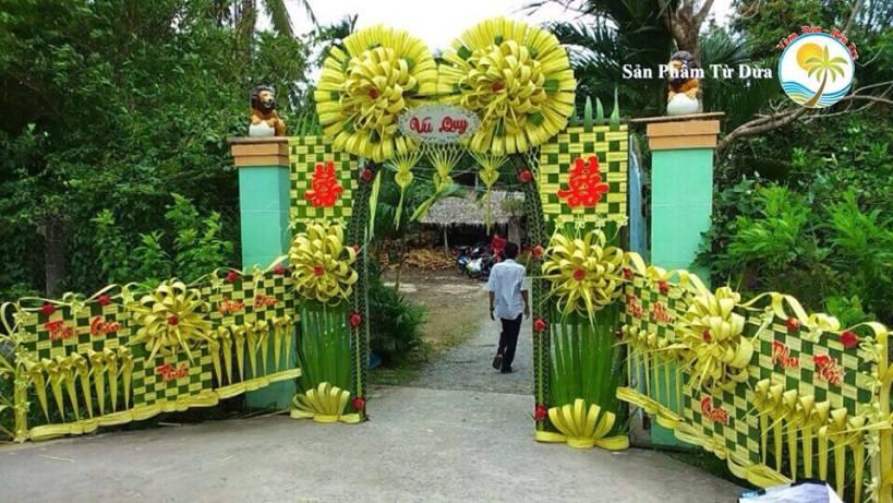 17554170 1883575008335508 6122753584374306186 n Đám cưới mà dựng cổng lá dừa, chưa bao giờ hết mốt vì quá xịn - Cổng cưới Miền Tây | Craft Gifts Shop, decor design, quà tặng trang trí handmade