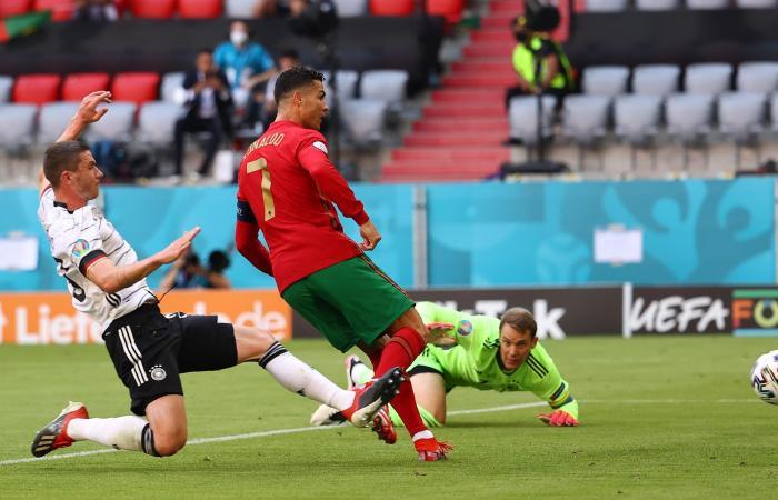 """Kết quả Bồ Đào Nha vs Đức: Nhà ĐKVĐ chết thảm dưới """"bánh xe tăng"""" 23:00 19-06-2021 Cristiano Ronaldo lập công, Bồ Đào Nha vẫn thảm bại trước người Đức vòng bảng EURO 2020 UEFA Euro 2020 highlights Portugal 2-4 Germany: Havertz, Gosens star in Germany's win over Cristiano Ronaldo's men"""