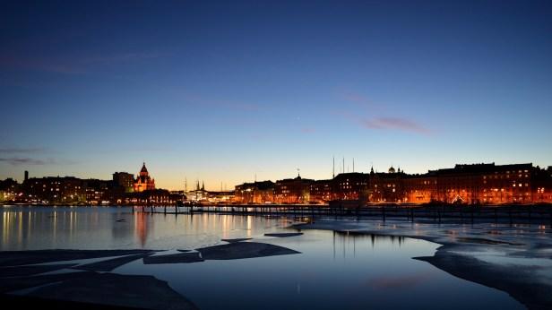 Helsinki Skyline at Night - Helsinki (Uusimaa), Finland