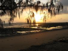 Sunrise over Clairview beach QLD
