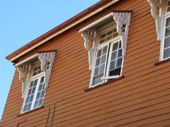 Upstairs windows