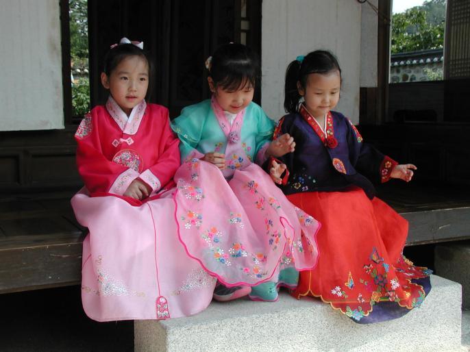 Beautiful children in National costume