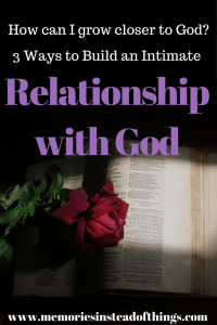 Intimate Relationship with God