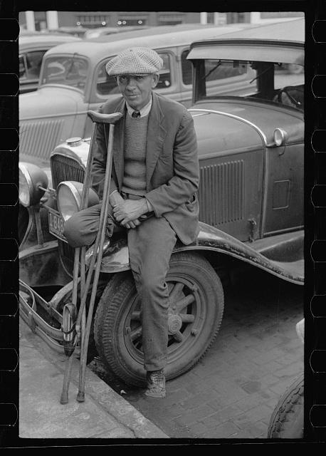 War veteran who sells pencils, Omaha, Nebraska (November 1938)