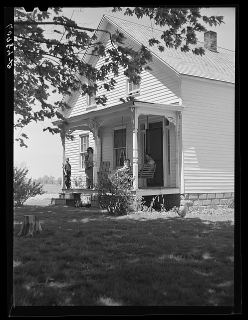 New home of FSA (Farm Security Administration) tenant purchase borrower. Crawford County, Illinois.  May 1940.