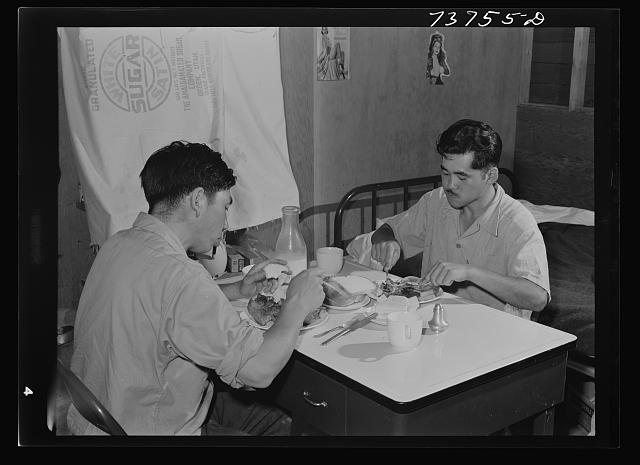 Twin Falls, Idaho.  Farm Security Administration farm workers camp.  Japanese who live at the camp.  July 1942.
