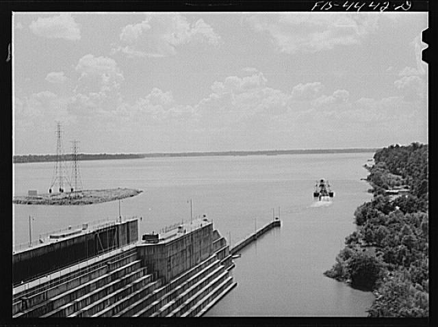Lock at Wheeler Dam, Alabama, June 1942.