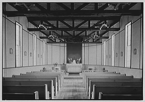 Bainbridge Naval Training Station, Bainbridge, Maryland. Chapel, Lady chapel.  1943 Apr. 28.  (Library of Congress)
