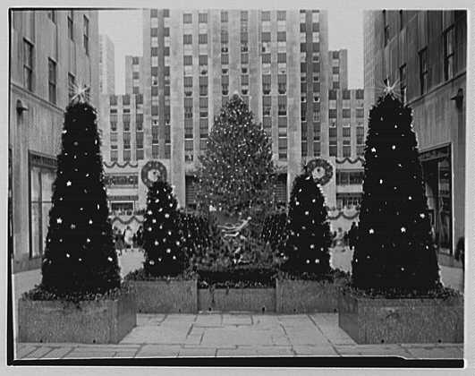 Rockefeller Center, New York City.  December 9, 1943