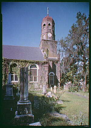 Bernard M. Baruch, Hobcaw Plantation, residence in Georgetown, South Carolina. Church and graveyard.  1944 June (Library of Congress)