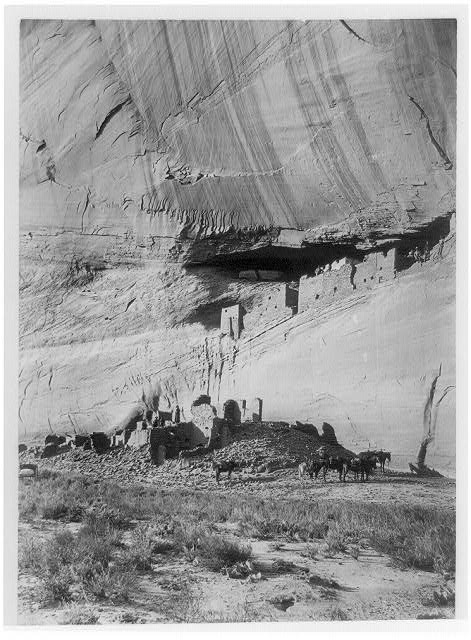 Ruins of cliff dwellings, Canyon de Chelley, Arizona (John K. Hillers, photographer)