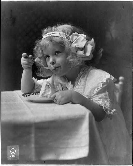 The ice cream girl c1913 Aug. 11. (Library of Congress)