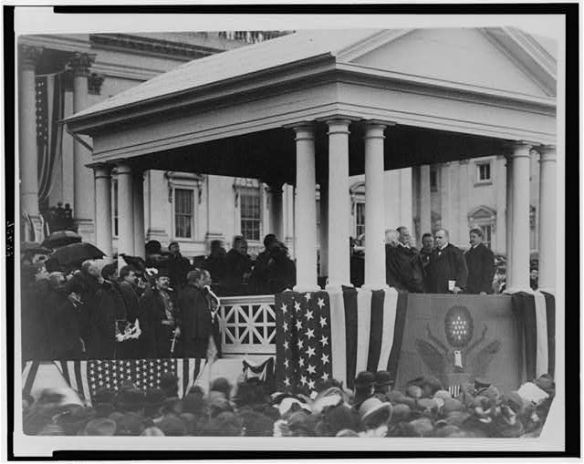 Second inauguration of President William McKinley, 24th President of the United States (1897 - 1901), March 4, 1901.