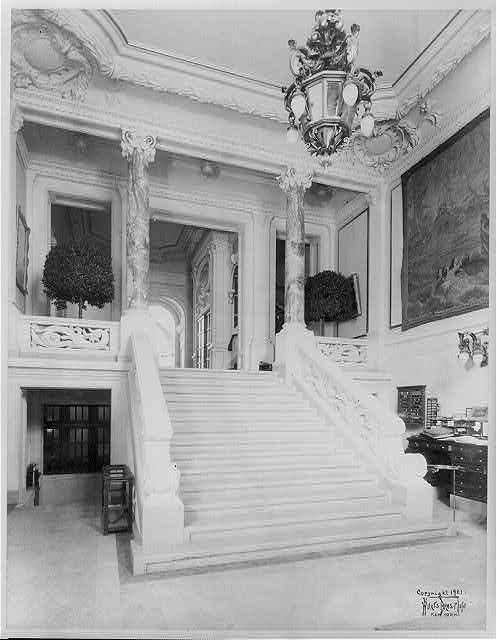 Main hallway with marble staircase (1901)