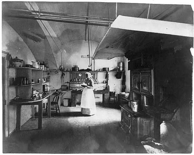 Cook in White House kitchen.  Circa 1890
