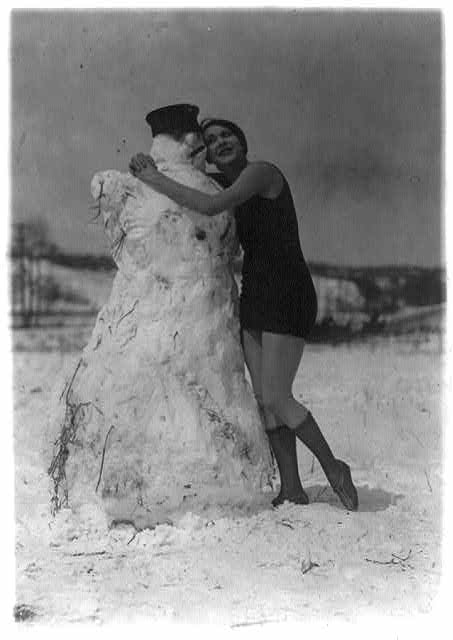 What it takes to melt a snowman this young lady has - Miss Fritzi Ridgeway.  April 2, 1924.