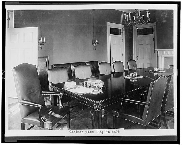 White House Cabinet meeting room
