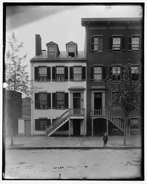 Mrs. Mary Surratt house at 604 H St. N.W. Washington, D.C., between 1890 and 1910.