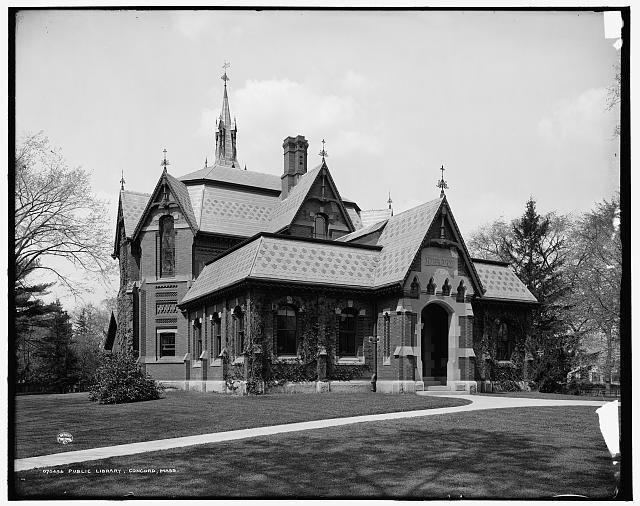 Public Library, Concord, Massachusetts (between 1900 and 1910)