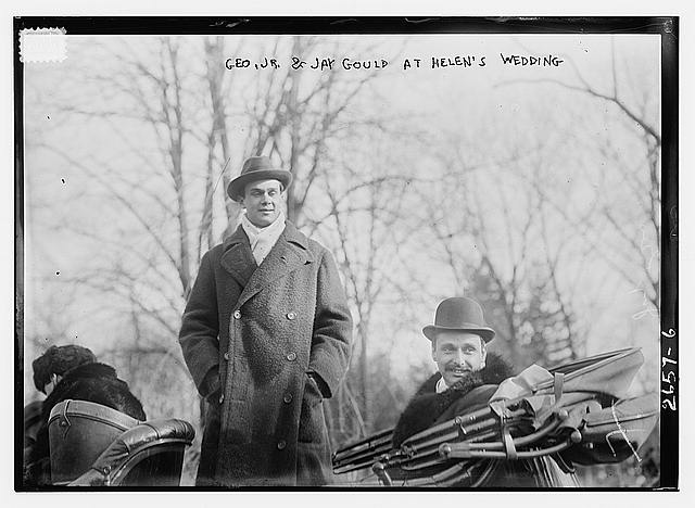 Geo. Jr. and Jay Gould at Helens wedding, January 1913