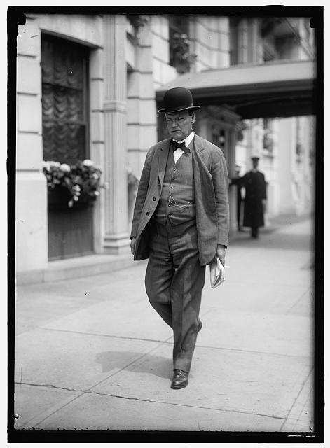 Clarence Darrow leaving the Shoreham Hotel.