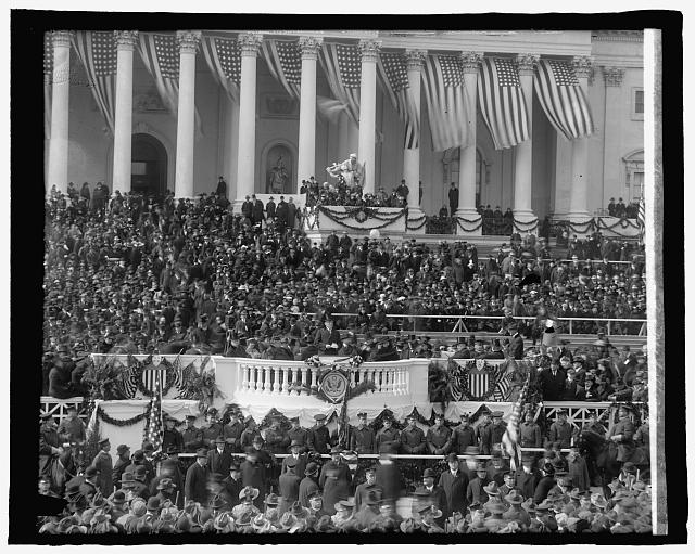 Second inauguration of Woodrow Wilson, 28th President of the United States (1913 - 1921), March 4, 1917.