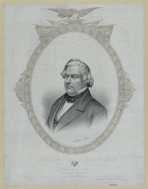 R. J. Compton lithograph of Millard Fillmore, published in 1858 - Library of Congress
