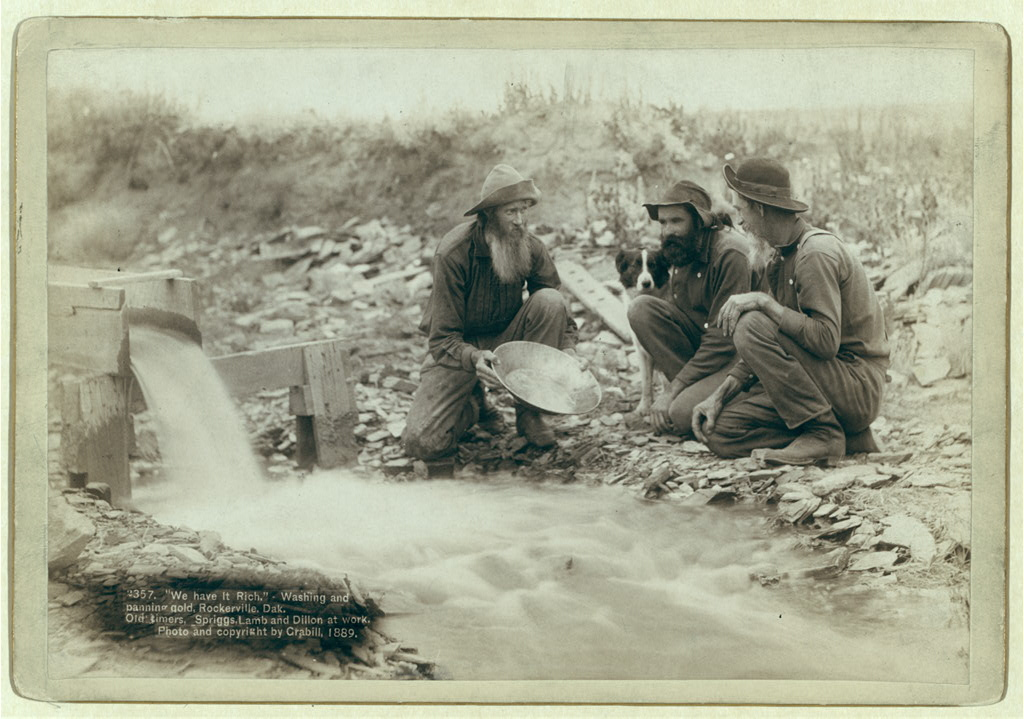 We have it rich: washing and panning gold, Rockerville, Dakota