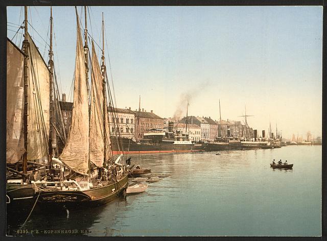 Hafenstrasse, Copenhagen, Denmark.  Detroit Publishing Company, c1905.  (Library of Congress)