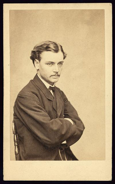 Robert Lincoln, son of President Abraham Lincoln.  Bradys National Photographic Portrait Galleries, ca. 1865.