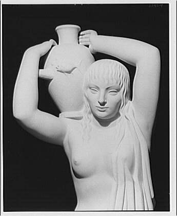 Statue representing Water at Department of Justice, circa 1920