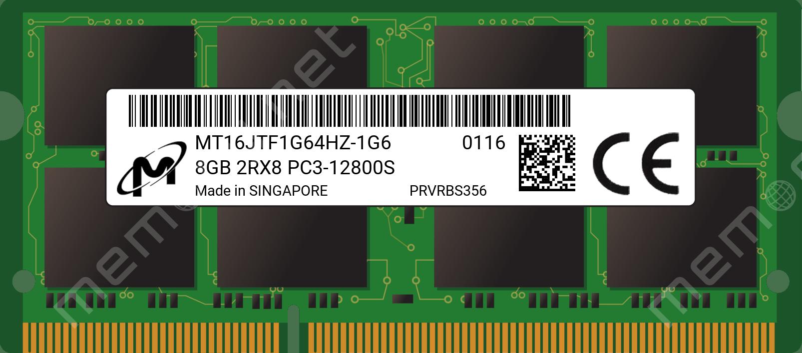 8GB Memory Module PC3-12800 SODIMM For Lenovo IdeaCentre Q190