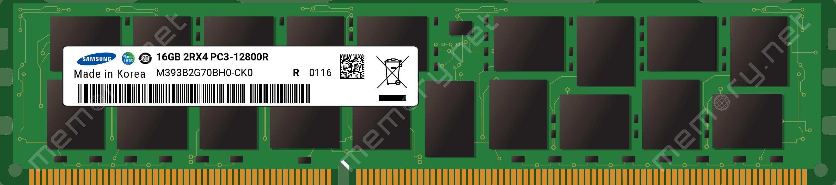 Samsung PC3-12800R 16GB 2Rx4 DDR3  M393B2G70BH0-CK0 Server Memory *SHIPS FAST