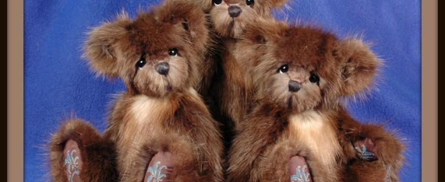 3 Custom Memory Fur Bears from Mink Stole
