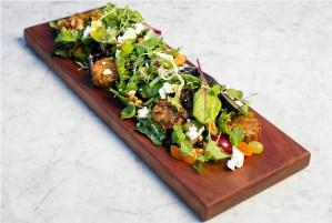 Chicken Falafels with Mint, Blueberries & Walnuts