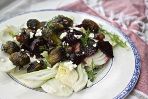 Honey Roasted Beet, Brussel Sprout & Fennel Salad
