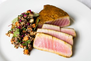 Seared Tuna with Orchard Apple Quinoa