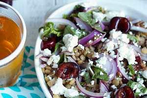 Cherry Lentil Salad