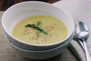 Coconut Cream of Asparagus Soup