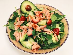 Summer Salad with Smoked Rainbow Trout