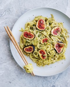 Zucchini Noodles with Fig, Hemp and Pumpkin Seeds
