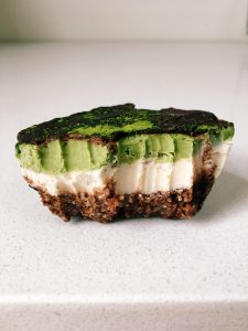 Raw Mint Chocolate Matcha Cheesecake