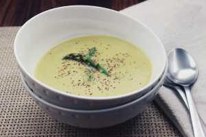 Coconut Cream Asparagus Soup