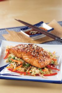 Hoisin Salmon with Ginger Slaw